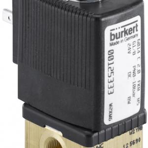 SOLENOIDE BURKERT BASE METAL 24 V N/O 3 VIAS 2.0 mm 8 W
