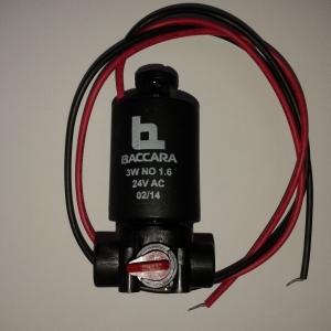 SOLENOIDE BACCARA G75 BASE PLASTICO 3V 24 AC N/O 1.6 mm