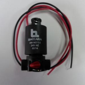 SOLENOIDE BACCARA G75 BASE PLASTICO 3V 24V N/C 1.6 mm
