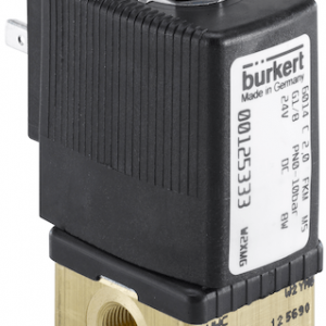 SOLENOIDE BURKERT BASE METAL 24 V N/C 3 VIAS 2.0 mm 8 W